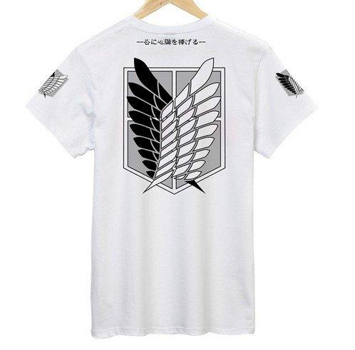 LUGANO- コスプレ衣装 進撃の巨人風/調査兵団 Tシャツ  Lサイズ コスチューム