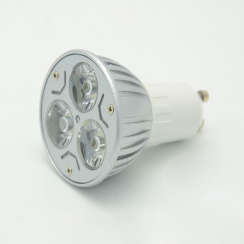 Thg 4Pcs Gu10 High Power 3W Led Cool White Spot Light Lamps Bulb 100V - 240V Energy Efficient Saving For Corridor Passage Passageway Lobby front-1080446