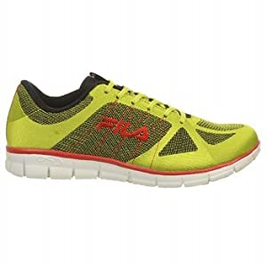 Fila Men's Speedweave Running Shoe,Lime Punch Fila Red/Black,14 M US