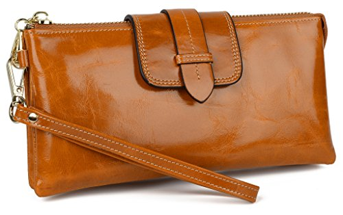 Yahoho Women's Genuine Leather Wristlet Wallet