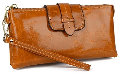 Yahoho Women's Genuine Leather Wristlet Wallet