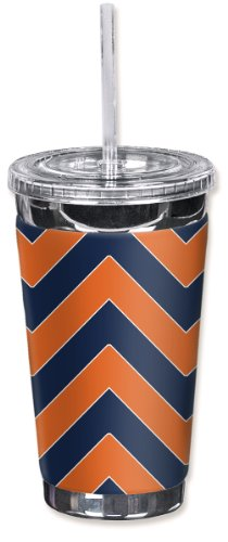 Mugzie® Brand To Go Tumbler With Insulated Wetsuit Cover - Broncos Football Colors Chevron