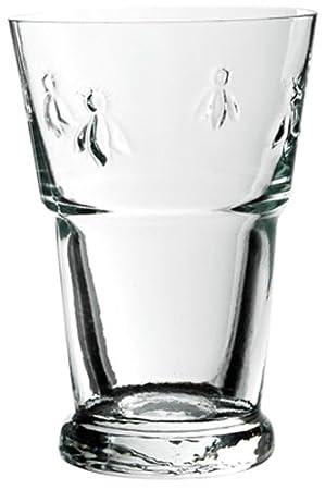 La Rochère Set of 6 Bee Décor Large Clear Iced Tea Glasses