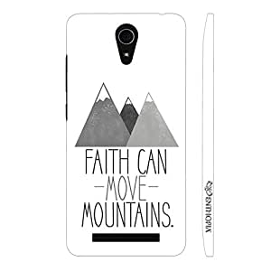 Enthopia Designer Hardshell Case Faith can move mountains Back Cover for Asus Zenfone 6