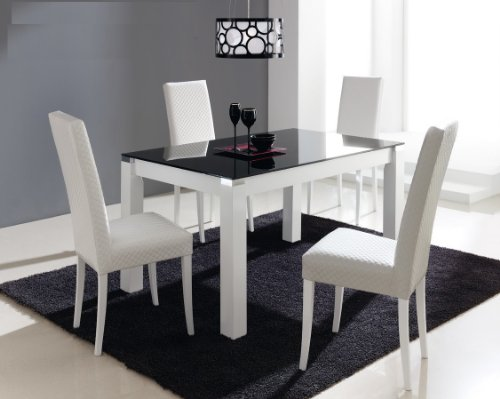 Table salle a manger blanc laqu extensible table salle - Table extensible salle a manger ...