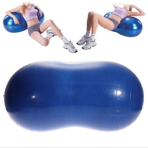 Yoga Ball Peanut Shape Fitness Exercise Workout Gym Blue 90x45cm