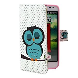 GENERIC Owls Sleep Pattern PU Leather Full Body Case with Stand and Money Holder for LG L70 #01777972