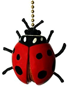 Ladybug Ceiling Fan Light Pull