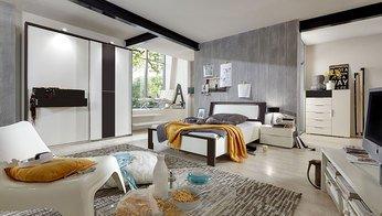 o^) Chambre adulte complète contemporaine LUDVIKA, coloris ...