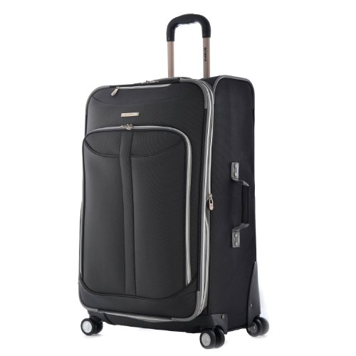 Olympia Luggage  Tuscany 30 Inch Expandable Vertical Rolling Luggage Case,Black,One Size image