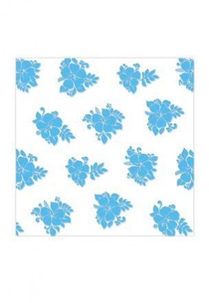 Lush Hibiscus Blue Cello Roll Wrap