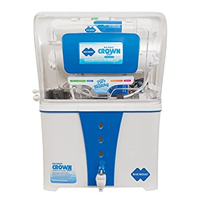 Blue Mount Crown Star BM55 10-Litre Water Purifier (White/Blue)