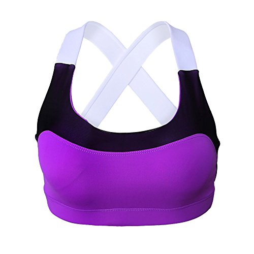 meinice Adorabile Cross Back Active Yoga Reggiseno Purple Medium