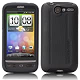 Case-Mate SoftBank X06HT / HTC Desire Hybrid Tough Case with Screen Protector, Black / Black 「X06HT / HTC デザイア」 専用 ハイブリッド タフ ケース (液晶保護シート つき) ブラック・ブラック CM011471