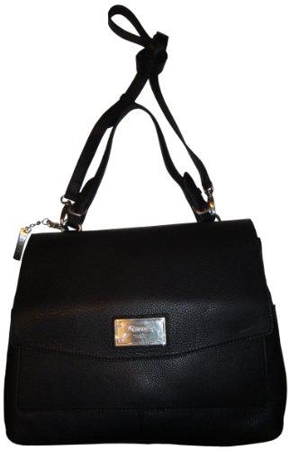 DKNYWomen's DKNY Purse Handbag Soft Leather with Logo Plaque Black
