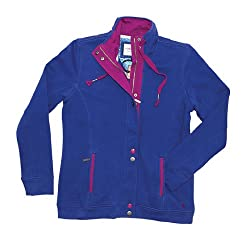 Carrie Ladies Womens Full Zip Sweatshirt Sweater Top With Pockets - Tayberry