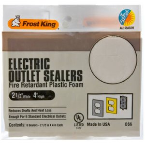 Frost King OS6H Foam Outlet and Switch Sealers