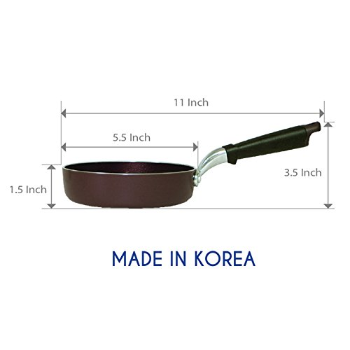 TeChef - 5.5-Inch One Egg Frying Pan, Coated with New Teflon Select / Non-Stick Coating (PFOA Free) / (Aubergine Purple) - Colour Collection (5.5-Inch)