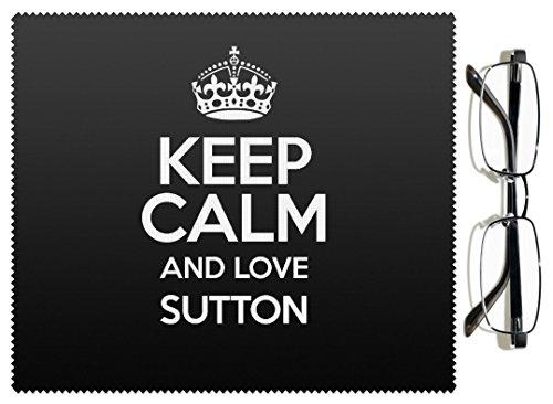 """Nero con scritta """"Keep Calm and Love Sutton lenti 0638-Stivaletti colore alla caviglia"""