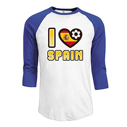 Men's I LOVE SPAIN Football Raglan Baseball T-Shirt (Hair Removal Gel For Men compare prices)