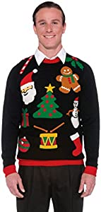 Forum Novelties Men's Plus Size Everything Novelty Christmas Sweater by Forum Novelties Costumes