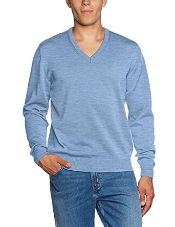 Maerz Herren Pullover 490400, Einfarbig, Gr. XX-Small (Herstellergröße: 46), Blau (star Blue 346)