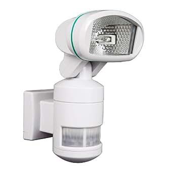 Outdoor Motion Triggered Tracker White Floodlight with PIR Sensor