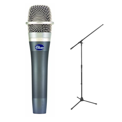 Blue Microphones Encore 100 Studio-Grade Dynamic Performance Microphone With Microphone Stand In Black