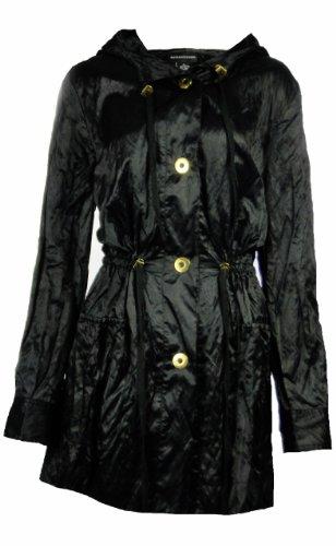Sutton Studio Womens Nylon Anorak Crinkle Button Jacket