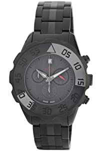 GV2 by Gevril Men's 3005B Parachute Black PVD Chronograph Bracelet Date Watch by GV2 by Gevril