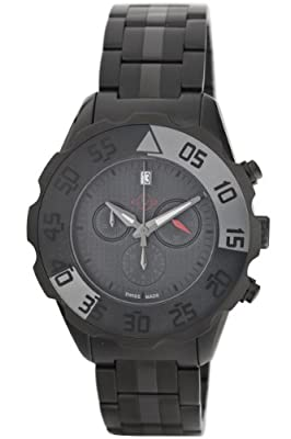 GV2 by Gevril Men's 3005B Parachute Black PVD Chronograph Bracelet Date Watch from GV2 by Gevril