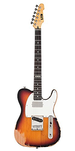 Te-2023Tbr Electric Guitar Distressed 3-Tone Burst Finish
