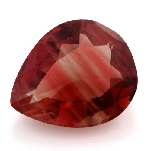 Natural Africa Red Andesine Loose Gemstone Pear Cut 12*10mm 4.65cts I Grade