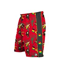 Flow Society Authentic Lacrosse Gear Rasta Monkey Red Lax Mesh Short Adult Medium