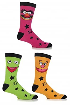 Mens 3 Pair SockShop Muppets Socks Assorted 6-11