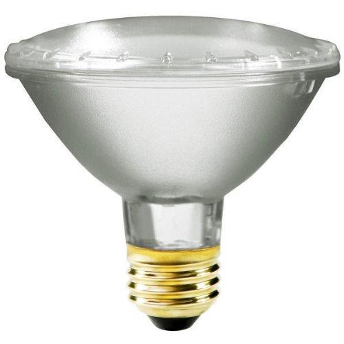Satco S2234 39 Watt (50 Watt) 530 Lumens Par30 Short Neck Halogen Narrow Flood 34 Degrees Clear Light Bulb, Dimmable