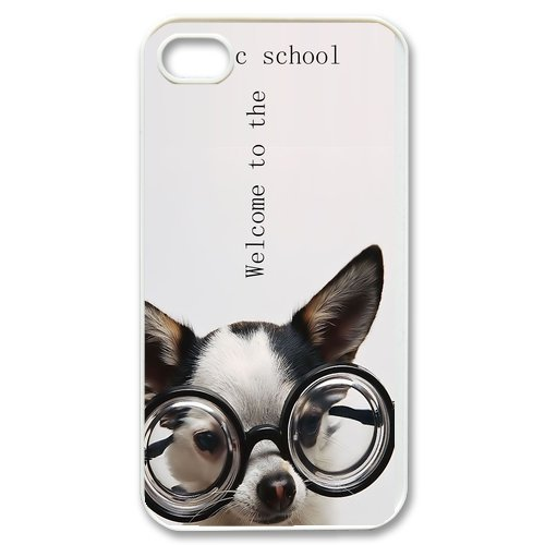 Generic Cell Phones Cover For Apple Iphone 4S Case Iphone 4 Case Cute Dog Portrait Dogs Little Brown Dachshund Greedy Pug Shiba Inu Poodle White Labrador Chihuahua Dog Puppy - Protective Designer Custom Made Hard Snap On Phone Cases front-1071227