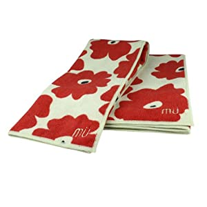 MUkitchen Microfiber Dishtowel - Red Poppy
