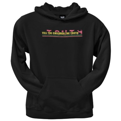 Old Glory Mens Little Hippie - Tell The Children Hoodie - 2X-Large Black