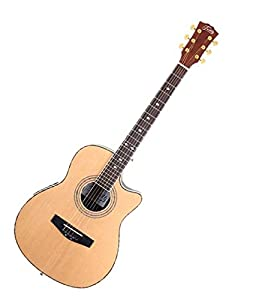 SG Musical Acoustic Guitar Natural  available at Amazon for Rs.11290