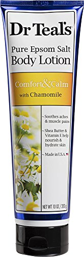 Dr. Teal's Pure Epsom Salt Body Lotion, Comfort & Calm with Chamomile, 10 OZ Per Tube (Epsom Salt Lotion compare prices)