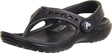 crocs 12066 Baya Flip Sandal (Toddler/Little Kid),Black,6 M US Toddler