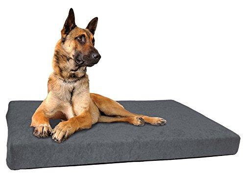 """Schecker DOG ORTHO"""" Orthopädisches Hundebett inkl. 2 weiche Frotte-Bezüge (Wechselbezug) Thermo-isolierend Anti-Rutsch-Boden nässebeständig , Maschinenwaschbar und Trockner-beständig bis 40C°"""
