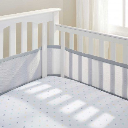 Great Features Of BreathableBaby Breathable Mesh Crib Liner 2014 (Gray Mist)