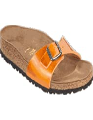 Birkenstock Sandals ''Madrid'' from Leather in Antik Orange with a regular insole by Birkenstock