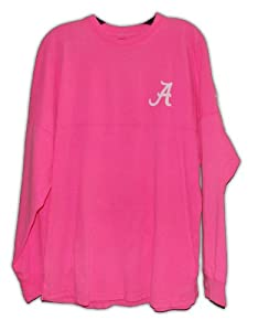 Alabama Crimson Tide Sweeper Long Sleeve T-shirt Pink by ETC