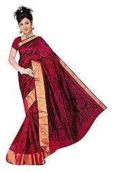 Monika Fashion Women's Cotton and Silk Saree - mf11_Red