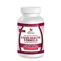 #1 Liver Health Formula - Extra Strength Liver Health Supplement - All Natural Best Liver Support Supplement Formulated With L-Arginine, Milk Thistle & Anamu to Help Support Liver Health & Liver Function - 60 Days Supply