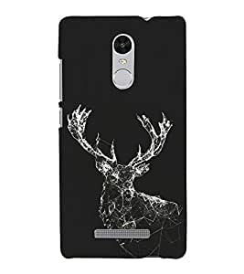Shinning Reindeer 3D Hard Polycarbonate Designer Back Case Cover for Xiaomi Redmi Note 3 :: Xiaomi Redmi Note 3 Pro :: Xiaomi Redmi Note 3 MediaTek