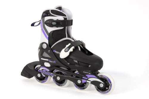 Osprey Girls Inline Skates - Black/White/Purple, Size 12-1